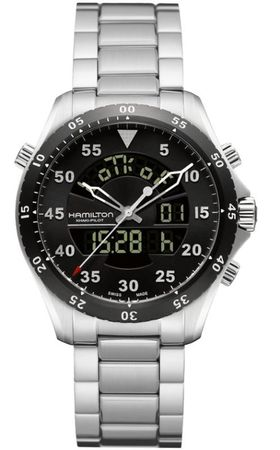 Hamilton Khaki Aviation Flight Timer Quartz  Men's Watch H64554131