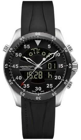 Hamilton Khaki Aviation Flight Timer Quartz  Men's Watch H64554331