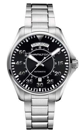 Hamilton Khaki Aviation Pilot Day Date Auto  Men's Watch H64615135