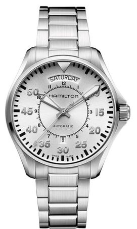 Hamilton Khaki Aviation Pilot Day Date Auto  Men's Watch H64615155