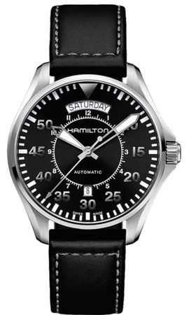 Hamilton Khaki Aviation Pilot Day Date Auto  Men's Watch H64615735