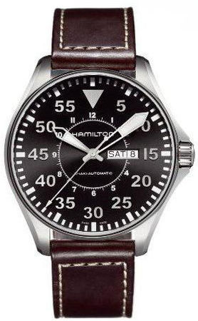 Hamilton Khaki Aviation Pilot Auto  Men's Watch H64715535