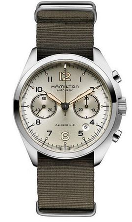 Hamilton Khaki Aviation Pilot Pioneer Auto Chrono  Men's Watch H76456955