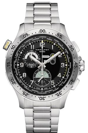 Hamilton Khaki Aviation Worldtimer Chrono Quartz  Men's Watch H76714135