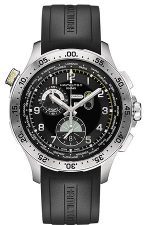 Hamilton Khaki Aviation Worldtimer Chrono Quartz  Men's Watch H76714335