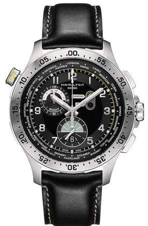 Hamilton Khaki Aviation Worldtimer Chrono Quartz  Men's Watch H76714735