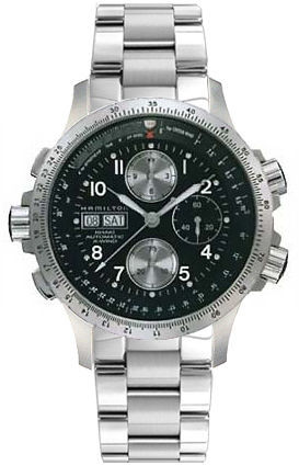 Hamilton Khaki Aviation X-Wind Auto Chrono  Men's Watch H77616133