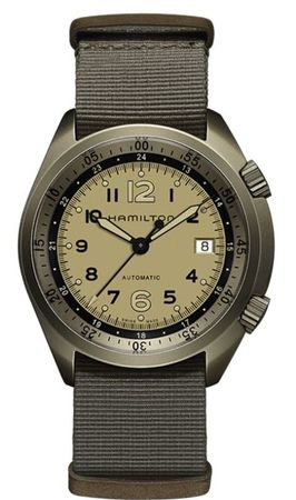 Hamilton Khaki Aviation Pilot Pioneer Aluminium Auto  Men's Watch H80435895