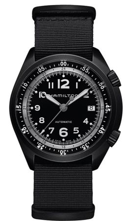 Hamilton Khaki Aviation Pilot Pioneer Aluminium Auto  Men's Watch H80485835