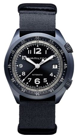 Hamilton Khaki Aviation Pilot Pioneer Aluminium Auto  Men's Watch H80495845