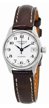 Longines Master Collection Automatic 25.5mm Silver Dial Brown Leather Women's Watch L2.128.4.78.3