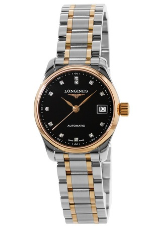 Longines Master  Automatic Rose Gold & Steel Diamond Women's Watch L2.128.5.59.7