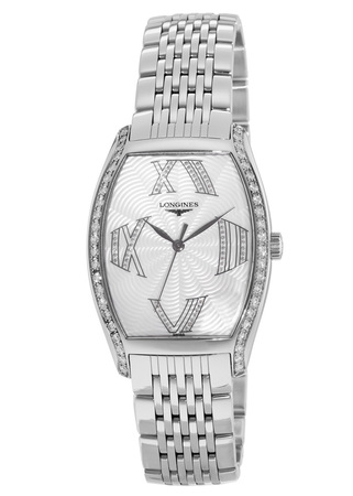 Longines Evidenza Quartz Tonneau Shaped Mother of Pearl Diamond Women's Watch L2.655.0.08.6