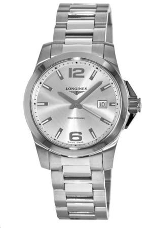 Longines Conquest Quartz Silver Dial Men's Watch L3.759.4.76.6