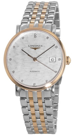 Longines Elegant  Automatic Steel & Rose Gold Unisex Watch L4.810.5.77.7