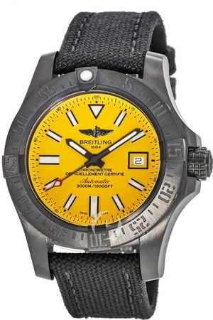Breitling Avenger Avenger II Seawolf Yellow Dial Limited Edition Men's Watch M17331E2/I530-109W