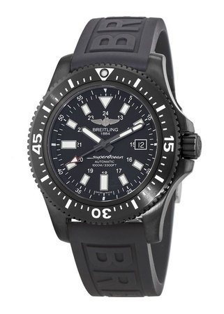 Breitling Superocean 44 Special Blacksteel Black Rubber Strap Men's Watch M1739313/BE92-152S
