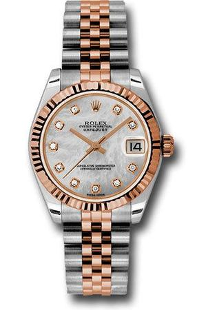 Rolex Datejust 31  Mother of Pearl Dial, Steel and 18k Everose Gold Jubilee Bracelet Women's Watch M178271-0060