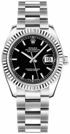 Rolex Datejust 31  Black Dial Women's Watch M178274-0034
