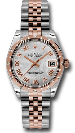 Rolex Datejust 31  Mother of Pearl Dial, Steel and 18k Everose Gold Women's Watch M178341-0005