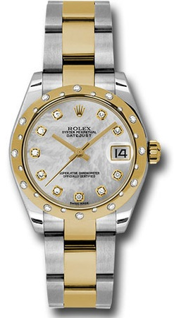 Rolex Datejust 31  Mother of Pearl Diamond Dial Women's Watch M178343-0006