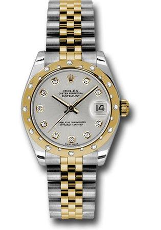 Rolex Datejust 31  Silver Diamond Dial Women's Watch M178343-0023