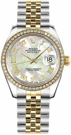 Rolex Datejust 31  Mother of Pearl Dial Diamond Bezel Women's Watch M178383-0003
