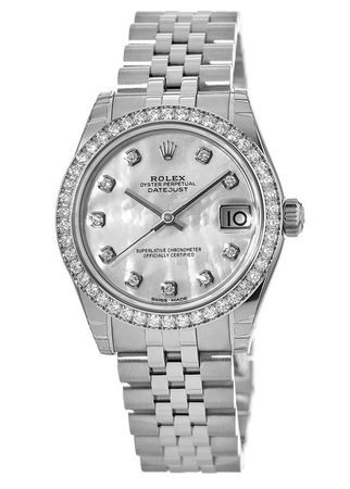 Rolex Datejust 31  Mother of Pearl Diamond Dial Women's Watch M178384-0004