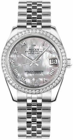 Rolex Datejust 31  Mother of Pearl Large VI Diamond  Dial Women's Watch M178384-0040