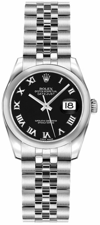 Rolex Datejust 26  Black Dial Women's Watch M179160-0038