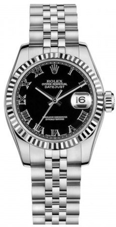 Rolex Datejust 26  Black Dial Women's Watch M179174-0096