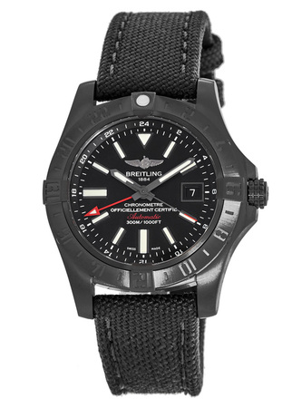 Breitling Avenger II GMT Black Dial Men's Watch M3239010/BF04-109W