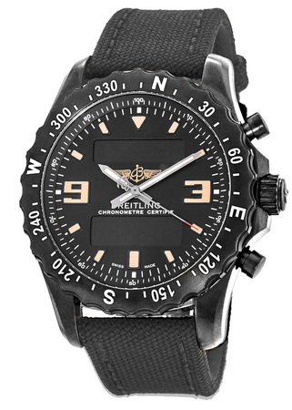 Breitling Professional Chronospace Military Blacksteel Super Quartz Men's Watch M7836622/BD39-100W