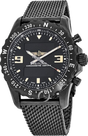 Breitling Professional Chronospace Military Blacksteel Super Quartz Men's Watch M7836622/BD39-159M