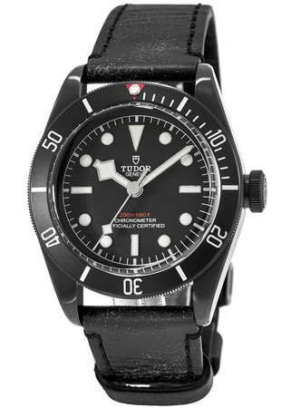 Tudor Heritage Black Bay  Dark Automatic Leather Strap Men's Watch M79230DK-0004
