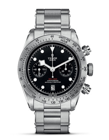 Tudor Heritage Black Bay Chrono Stainless Steel Men's Watch M79350-0001