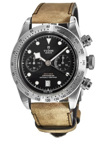 Tudor Heritage Black Bay Chrono Brown Leather Men's Watch M79350-0002