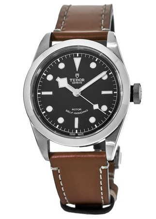 Tudor Heritage Black Bay Steel 41mm Brown Leather Strap Men's Watch M79540-0003