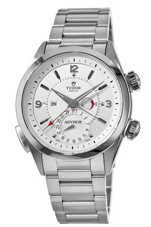 Tudor Heritage Advisor Silver Dial Stainless Steel Men's Watch M79620T-0001
