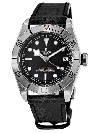 Tudor Heritage Black Bay Steel 41 Leather Strap Men's Watch M79730-0003