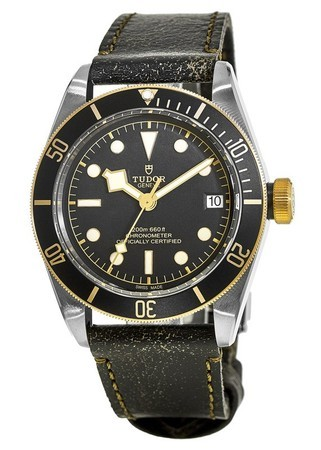 Tudor Heritage Black Bay Series 41 Aged Leather Strap Men's Watch M79733N-0001