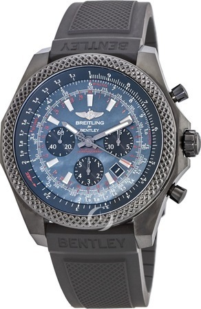 Breitling Bentley B06 Midnight Carbon Limited Edition Rubber Strap Men's Watch MB061113/BE60-220S