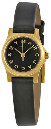 Marc By Marc Jacobs   Henry Dinky Gold Tone Black Watch Women's Watch MBM1240