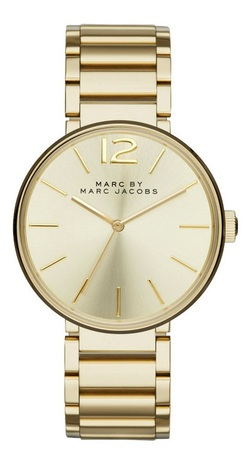 Marc By Marc Jacobs   Peggy Gold Sunray Dial Women's Watch MBM3401