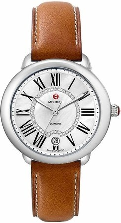 Michele Serein Mid Saddle Calfskin Women's Watch MWW21B000010