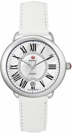 Michele Serein Mid White Patent Leather Women's Watch MWW21B000013