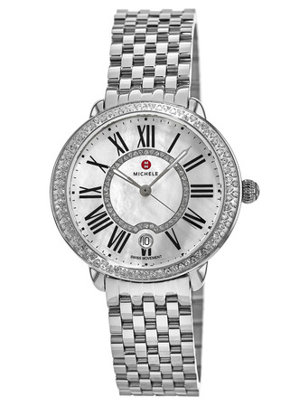 Michele Serein Diamond Mother of Pearl  Stainless Steel Women's Watch MWW21B000030