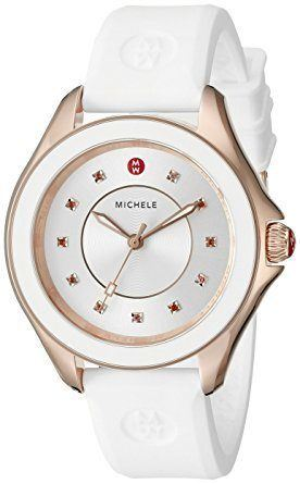 Michele Cape  Rose Gold Tone White Women's Watch MWW27A000004