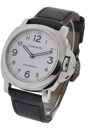 Panerai Luminor Base White Dial Men's Watch PAM00114