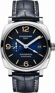 b34167c83c1 Panerai Radiomir 1940 3 Days GMT Automatic 45MM Blue Dial Blue Leather  Men s Watch PAM00946